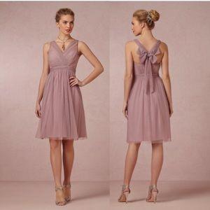 Hitherto. Anthro. Gauzy mesh layered tulle dress